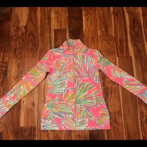 "Lilly Pulitzer ""Shellabrate"" Zip Up"